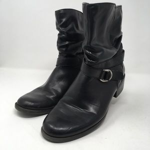 Anne Klein Womans 10M Black Synthetic Leather Boot